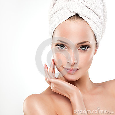 Free Spa Girl With Clean Skin Royalty Free Stock Images - 54074229