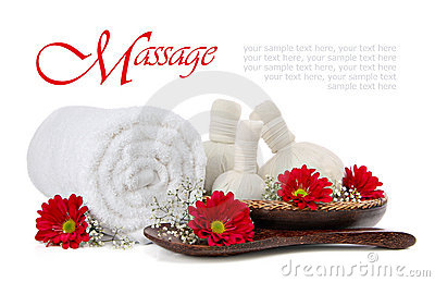Spa herbal compress massage