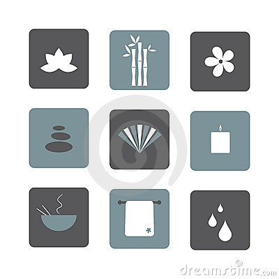 Spa icons Vector Illustration