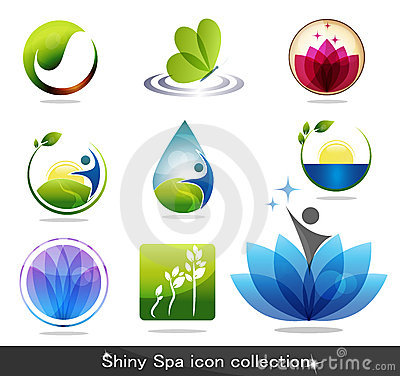 Free Spa Icons Royalty Free Stock Photography - 22088437