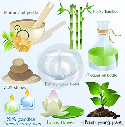 Free Spa Icons/ Objects Vector Set Stock Photo - 12634890