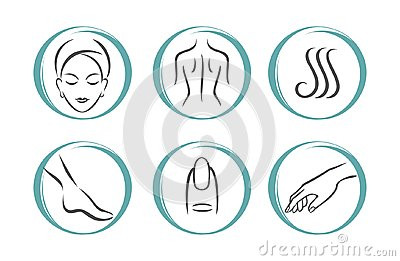 SPA icons set Vector Illustration