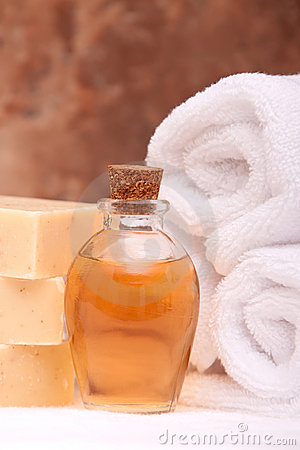 Spa items with essential oils
