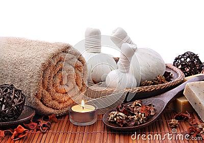Spa massage border or background