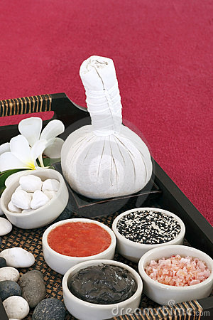 Spa and massage set