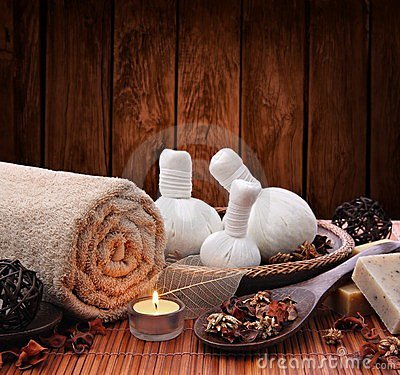 Free Spa Massage Setting With Candlelight Stock Images - 23782304