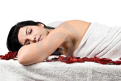 Spa massage woman