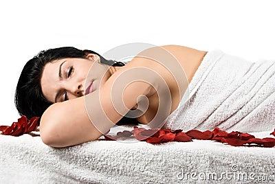 Spa massage woman