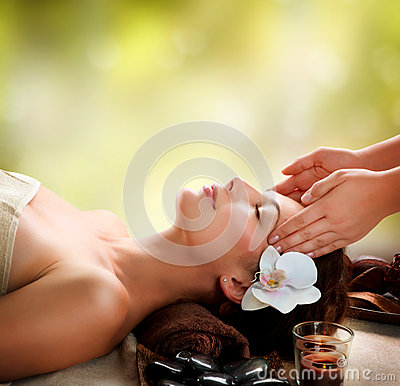 Woman Getting Facial Massage