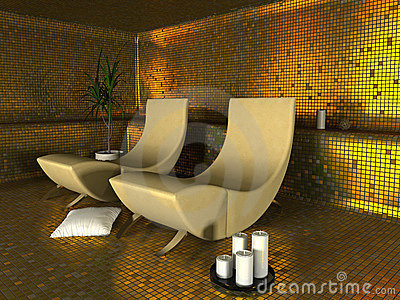 Spa modern interior