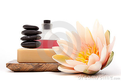 Spa objects for decor