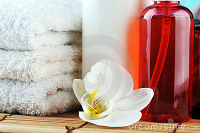 Spa oils and orchid