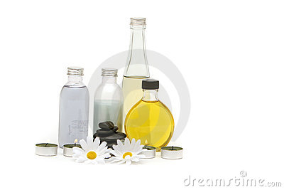 Spa oils, stones and candles