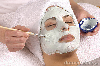 Spa Organic Facial Mask Application Stock Image - Image: 3723131