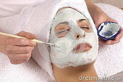 Spa Organic Facial Mask Application