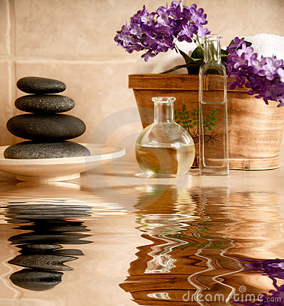 Free Spa Products Royalty Free Stock Image - 5242396