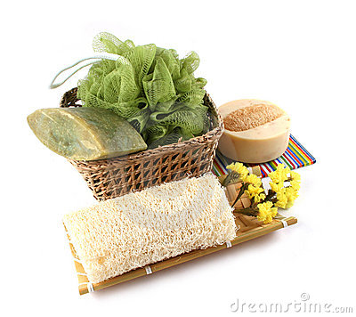 Spa products isolated