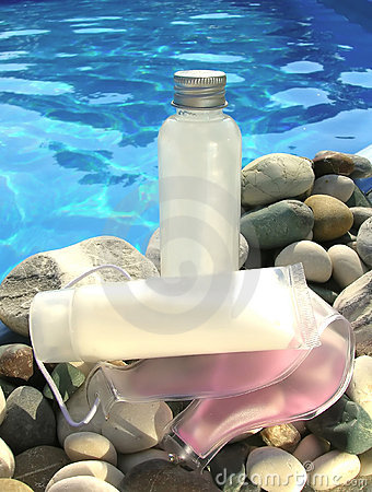 Spa Products by the Pool