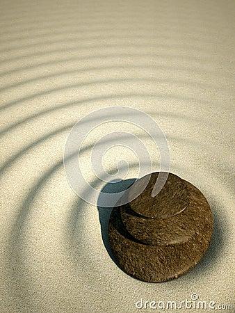 Spa relax stone zen sand volcano