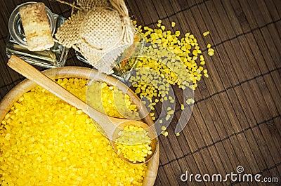 Spa sea salt and aromatherapy oil