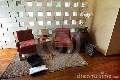 Spa seating area for relaxing and therapy