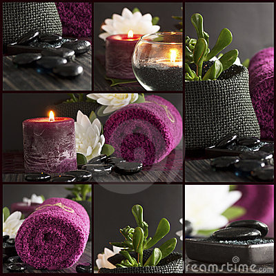 Free Spa Setting Collage Stock Images - 18640724