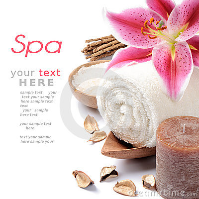 Free Spa Setting In Brown Tone Royalty Free Stock Photos - 21176128