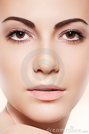 Spa, skincare & health. Woman with clean soft skin