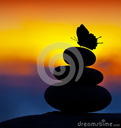 Free Spa Stones Balance Stock Photography - 25497602