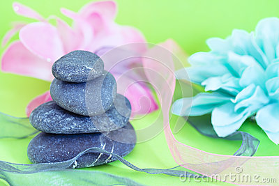 Spa stones & flowers, wellness/beauty care