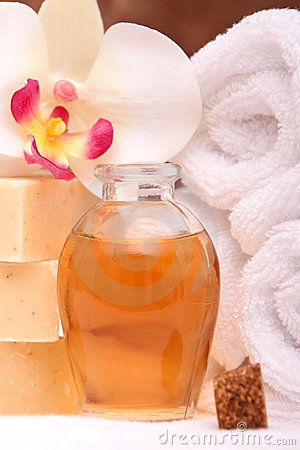 Spa towels and aromatherapy oils