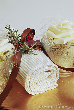 Free SPA Towels Wellness Royalty Free Stock Photos - 4218308