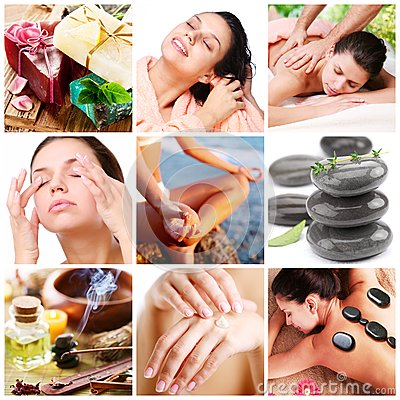 Spa treatments and healthy living.