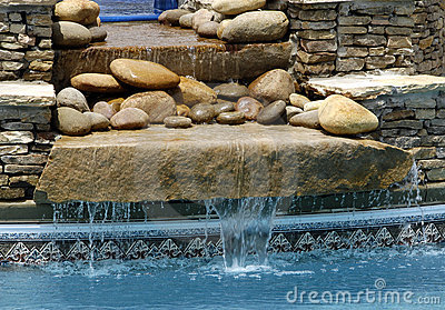 SPA Waterfall Feature