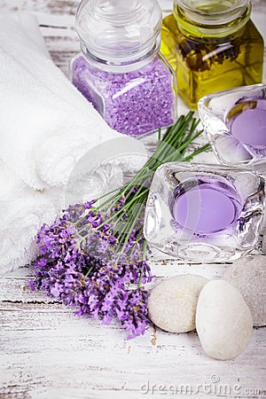 Free Spa With Lavender Stock Images - 41922224