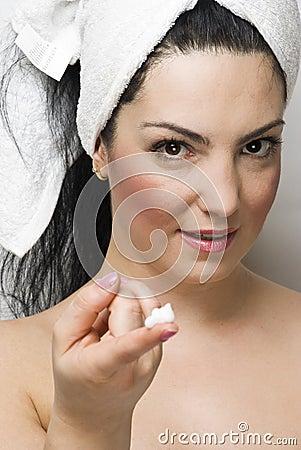 Spa woman skincare