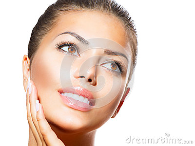 Spa Woman Touching her Face