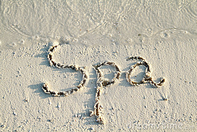 Spa  written in sand.