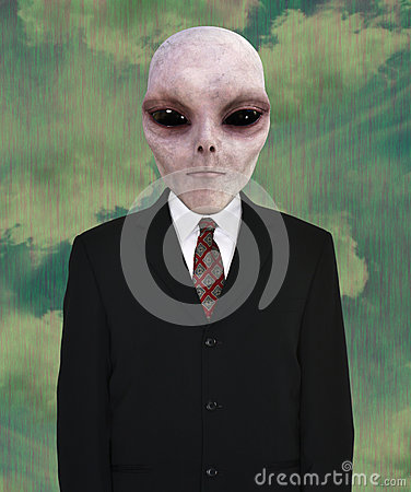 Free Space Alien, Business Suit, Tie Royalty Free Stock Photos - 94141738