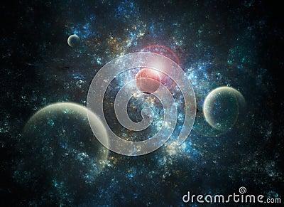 Space Art Nebula