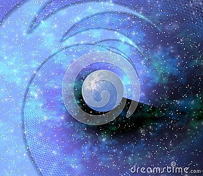 Space. Blue planet