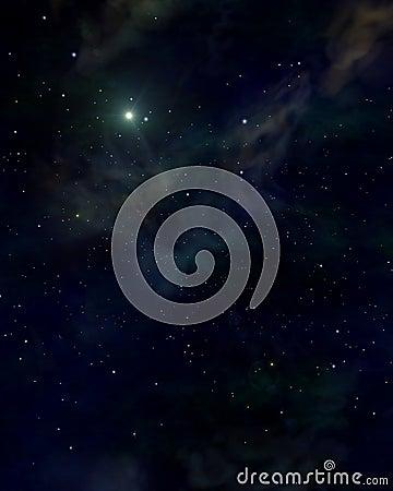 Space blue stars