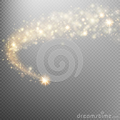 Free Space Comet Tail. EPS 10 Royalty Free Stock Images - 82341979
