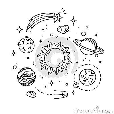Space Doodle Illustrat...