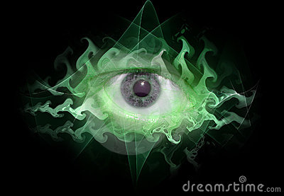 Space eye background tripin
