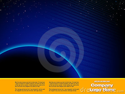 Space Graphic design Template