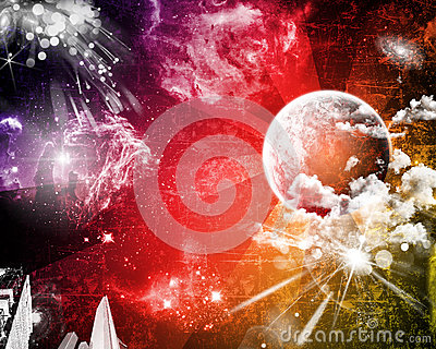 Space grunge party background