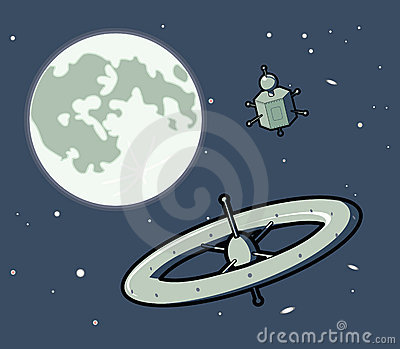 Space Machines with the Moon