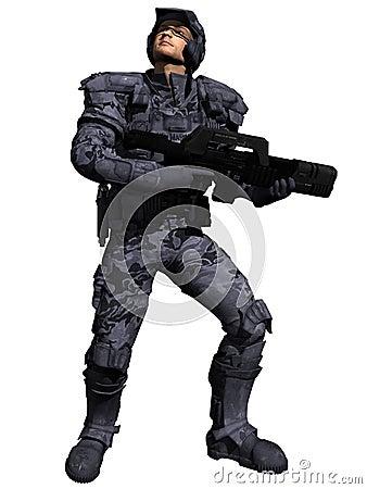 Space Marine Ranger Side-On