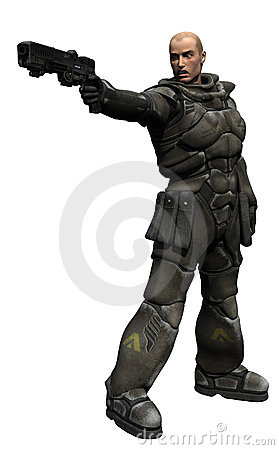 Space Marine Squad Leader Shoots